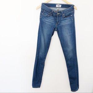 Paige Skyline Skinny Blue Jeans Sz24